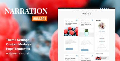 Narration — A Responsive HubSpot Blog Theme   Stylelib