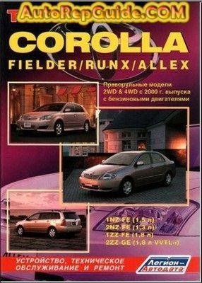 Download Free Toyota Corolla Fielder Runx Allex 2000 Repair Manual Image By Autorepguide Com Toyota Corolla Repair Manuals Toyota