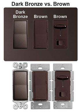 Dark Bronze Vs Brown Switches Light Switch Electrical Outlets