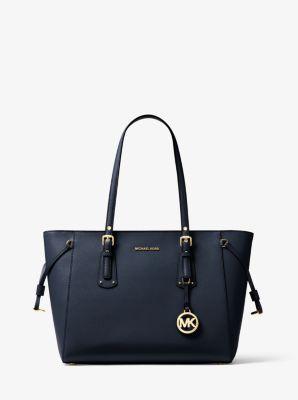 Voyager Medium Crossgrain Leather Tote Bag | Michael Kors ...