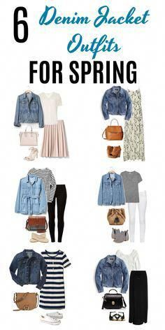 Whether it's for casual Fridays or a day out running errands, these six denim jacket outfits for spring are perfect for the occasions. A denim jacket is such a versatile piece of clothing, as you'll see from these super cute outfits. #denimjacket #spring #fashion #style #outfits #outfitideas #fashionover40 #fashionideasforwomenover40plussize