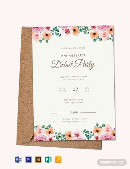 30 Cool Formal Invitation Card Template Blank Stock Formal Debut Invitation Formalholidayinvit Dinner Invitation Template Invitation Layout Debut Invitation