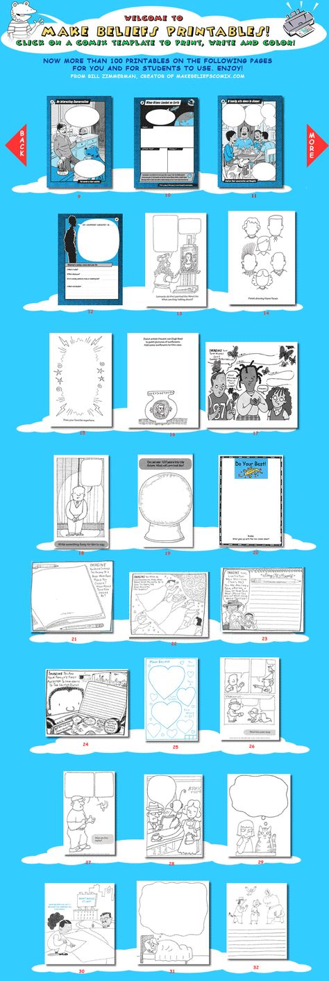 Printable blank comics from makebeliefscomics.com