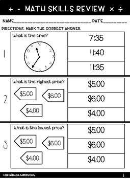 Functional Math Worksheets Level 2 Math Worksheets Math Worksheets