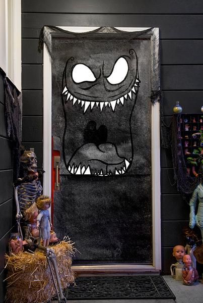 Dreadful Doors Halloween Door Covers Puertas Decoradas Para Halloween Puerta De Halloween Cosas De Halloween