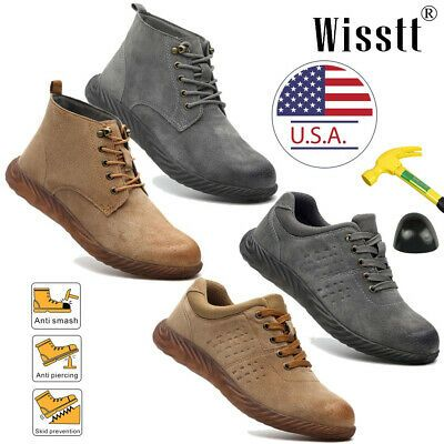 Ad Ebay Url Men S Steel Toe Caps Work Boots Lace Up Suede Nubuck Safety Shoes Hike Romeo Steel Toe Cap Boots Steel Toe Boots Sneaker Boots