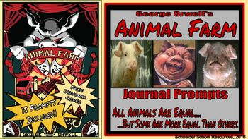 Thi Download Contain Fifteen Illustrated Journal Prompt That Are Based On George Orwell S Animal Farm Some Of The Prom Prompts Writing By Chapter