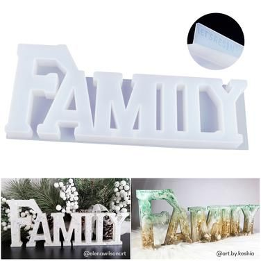 Love Home Family Silicone Mold Love-Sign Word Mold Epoxy Resin Molds Art Crafts