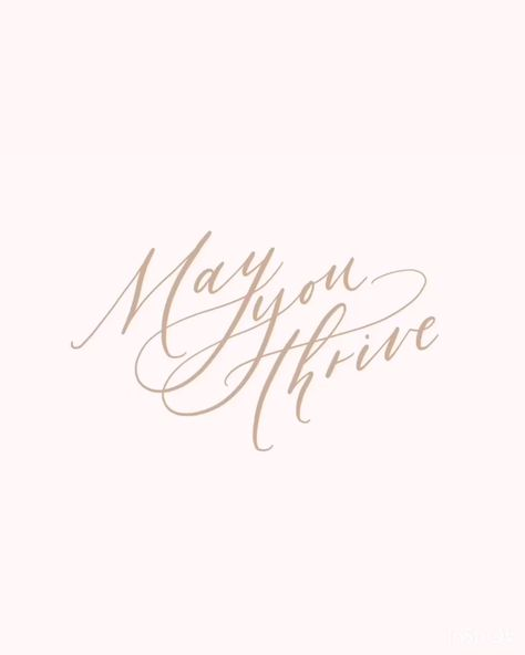 Fine art calligraphy lettering on Procreate. Happy May!