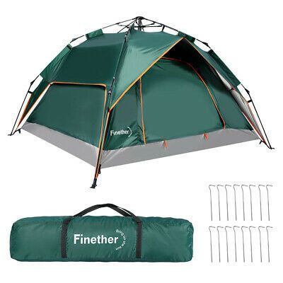 4 Person Waterproof Instant Pop Up Dome Camping Tent Hiking Travelling Outdoor Tent Hiking Trip Tent Camping