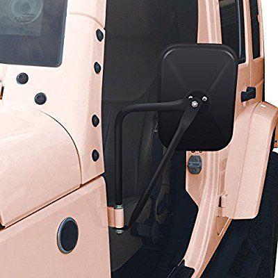 Amazon Com Audew A Pair Shake Proof Rectangular Adventure Mirrors Bolt On Door Hinge Mirror Off Road Doorless Mirrors Jeep Si Jeep Wrangler Jeep Doors Jeep