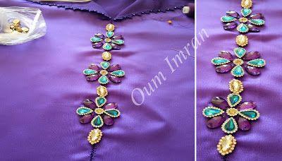 جلابة خفيفة بالراندة واللون البنفسجي وها كيفاش دخلت عليها الأحجار للإستفادة Randa Brooch Fashion Jewelry