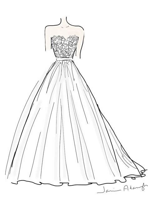 Image Result For Designer Dress Coloring Pages Dress Design Drawing Wedding Dress Drawings Fashion Drawing Dresses
