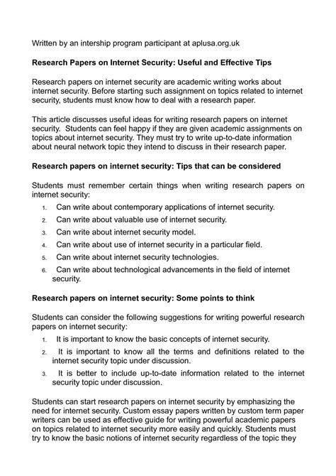Database Security Research Paper Research Paper Writing Words Academic Writing
