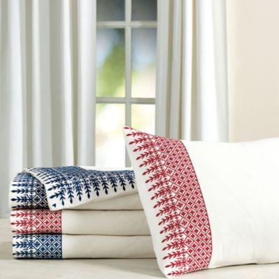 Cadiz Embroidered Bedding Limited Colors Ballard Designs Embroidered Bedding Embroidered Duvet Cover Ticking Stripe Bedding