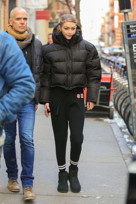 Gigi Hadid Track Pants Style