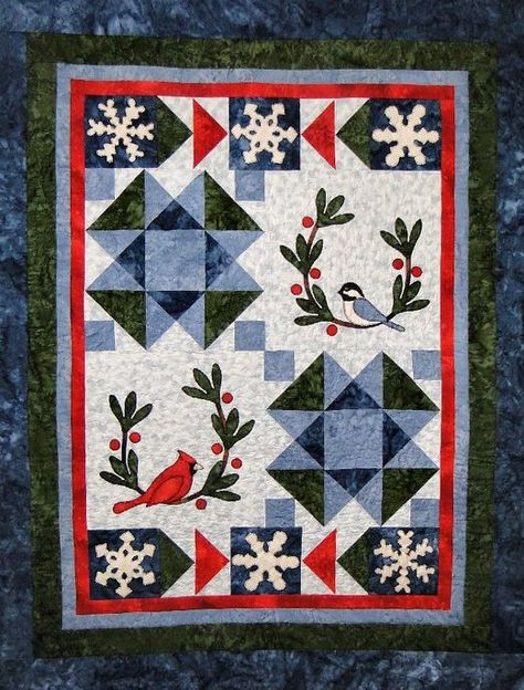 Winter Friends wall hanging pattern by Cottage Quilt Designs as seen at The Quilt Pattern Shop
