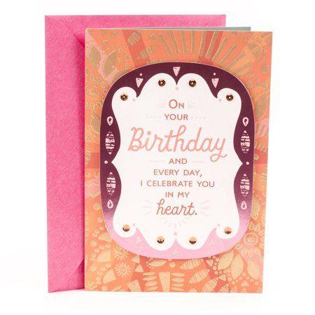 Hallmark Mahogany Birthday Greeting Card For Daughter I Celebrate You Walmart Com In 2021 Birthday Greeting Cards Hallmark Greeting Cards Birthday Greetings