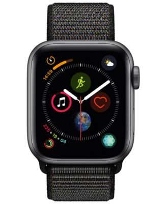 Apple Watch Series 4 Gps 40mm Space Gray Aluminum Case With Black Sport Loop Black Apfeluhr Apple Watch Kaufen Smartwatch