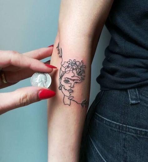 30 One-Line Tattoo Information and Ideas - . - Tattoos - 30 One-Line Tattoo Information and Ideas - . One Line Tattoo, Single Line Tattoo, Shape Tattoo, Line Tattoos, Get A Tattoo, Body Art Tattoos, Small Tattoos, Sleeve Tattoos, Tatoos