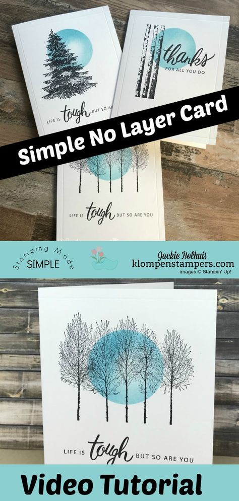 VIDEO Teaching masking technique to make this simple no layer card.  Jackie Bolhuis, Klompen Stampers