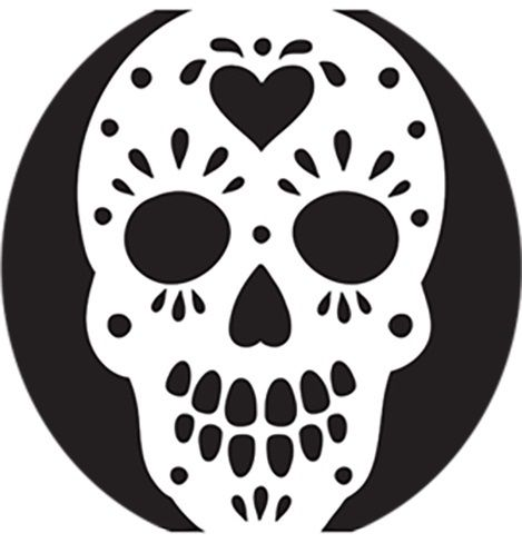 23 Free Skull Stencil Printable Templates Guide Patterns Sugar Skull Pumpkin Skull Stencil Skull Pumpkin