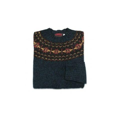 b754ed7389 O Connell s Womens Scottish Shetland Sweater Fair Isle Petrel ( 7) ❤ liked  on