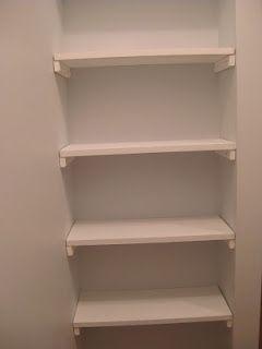 DIY Closet Shelves Idea  Brilliant For A Small Nook! Like In Guest  Bathroom. For Baskets, Towel Rolls Etc.... | Home Sweet Home | Pinterest |  Diy Closet ...