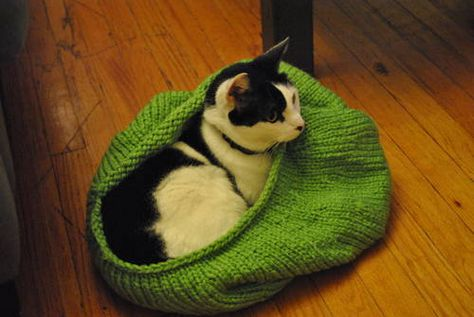 Cat sack from Craftster