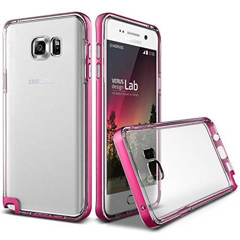 low priced 414de 53d6a Galaxy Note 5 Case, Verus [Crystal Bumper][Hot Pink] - [Clear][Drop ...