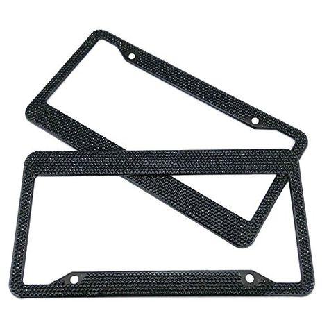 2 x Carbon Effect Number Plate Surrounds Holder Frame Bracket for Motor Home