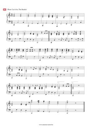 Thumbnail Of First Page Of Let It Be Piano Sheet Music Pdf By The