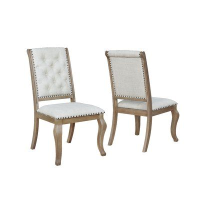 One Allium Way Brockway Tufted Upholstered Side Chair In Cream In
