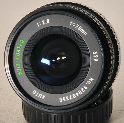 Sears 28mm F2 8 Telephoto Lens With Canon Fd Mount Camera Lenses Zoom Lens Canon Lens