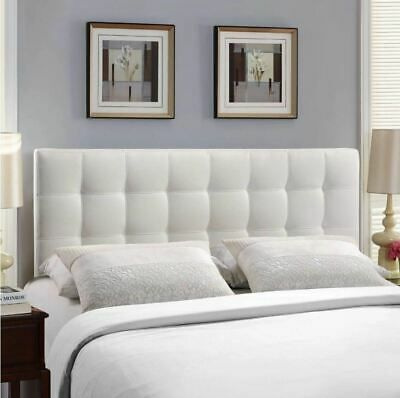 White Upholstered Headboard Twin Full Queen King Bed Frame Mount Tufted Fabric White Headboard Headboard Designs White Upholstered Headboard