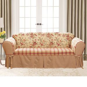 Margret Reversible Box Cushion Sofa Slipcover By Winston Porter