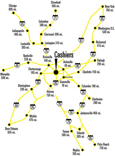 Cashiers Nc area map  Yahoo Image Search Results  NC mountains