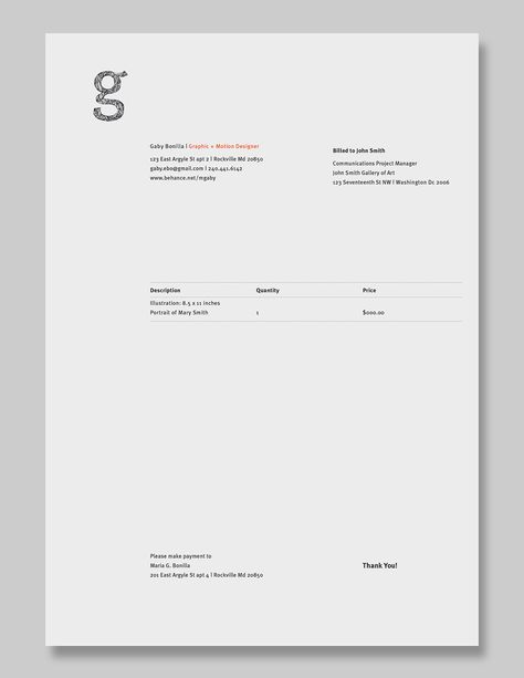 Invoice Design 50 Examples To Inspire You Invoice design - photography invoice