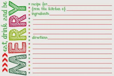 graphic about Printable Christmas Recipe Cards identified as Free of charge+Printable+Xmas+Recipe+Card+Template Terri Joseph