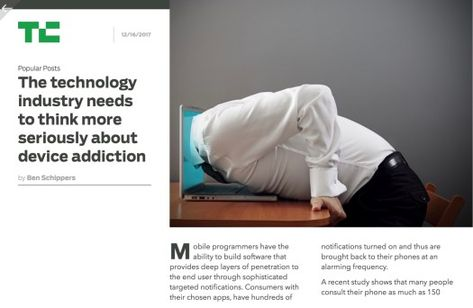 The technology industry needs to think more seriously about device addiction https://greenground.it/2017/12/17/the-technology-industry-needs-to-think-more-seriously-about-device-addiction/?utm_campaign=crowdfire&utm_content=crowdfire&utm_medium=social&utm_source=pinterest