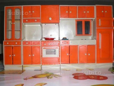 cucina per bambole galletti galba - anni-70 | Cucina anni 70 ...