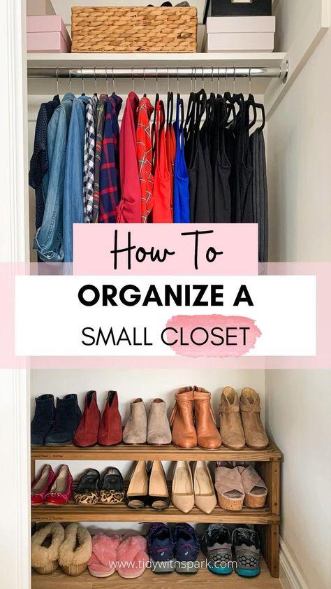 How to organize a small closet to maximize space - small closet organization