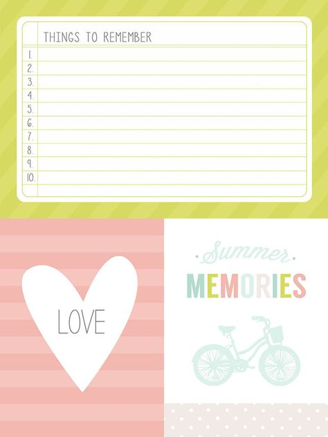 Summertime Journaling + Filler Cards - simple as that