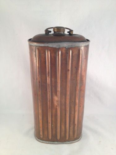 "Antique Copper English Foot Warmer 11""H x 5""L x 3""W 