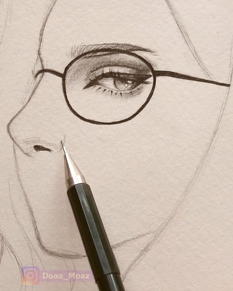 Drawing a girl portrait