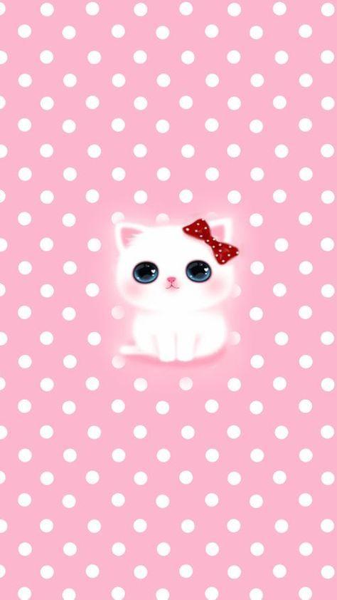 17 Trendy Wall Paper Cat Kawaii Phone Wallpapers Anime Kitten Pink Wallpaper Iphone Wallpaper Iphone Cute