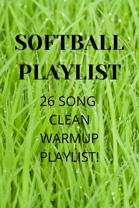 Clean 26 Song Playlist for Softball Warm-ups Walk Up Songs Softball, Softball Chants, Softball Workouts, Softball Memes, Softball Tournaments, Softball Bags, Softball Problems, Softball Drills, Girls Softball