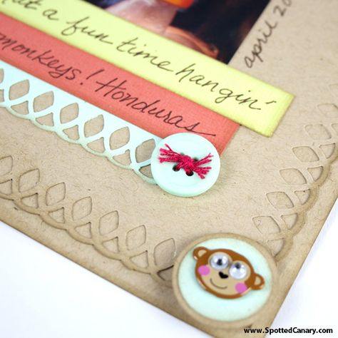 Three Sketches: Scrapbook Border Ideas in a Snap - on Spotted Canary