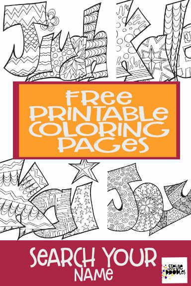 Free Printable Name Coloring Pages Search Your Name