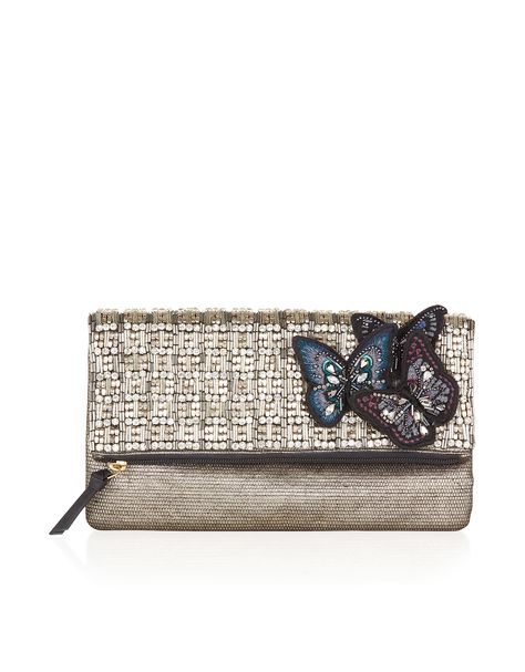 butterfly clutch bag accessorize